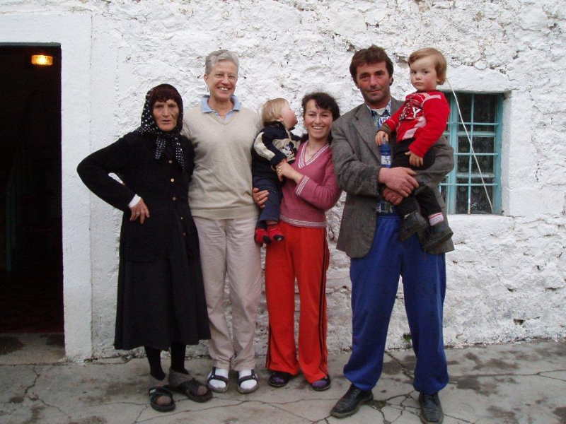 Author with Theth host family.