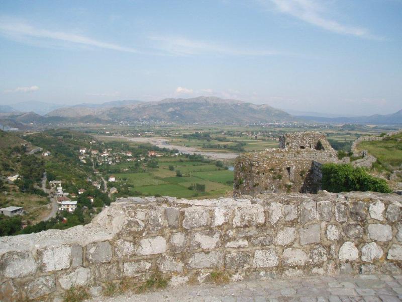 Shkodër from Rozafat Castle.