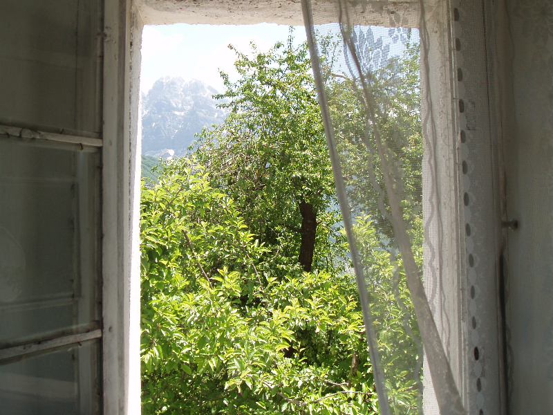 Author\'s bedroom window in Theth—lucky author!