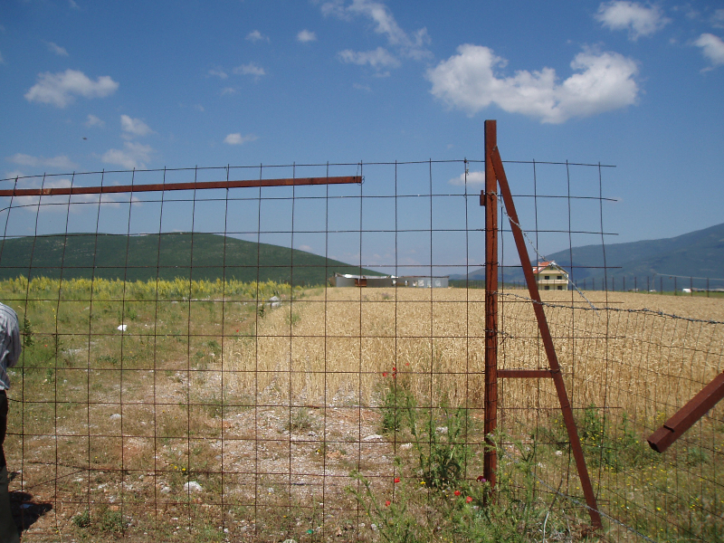 Kukës refugee camp site, where heroine of Spinning Wool might have worked.