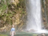 Author at waterfall in Theth.