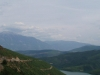 The heroine of Spinning Wool would have hiked this road above Lake Fierzës at night    after crossing the bridge from Kukës. Mt Pashtrik is the backdrop.