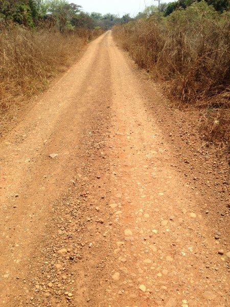 Old road near Abobo.
