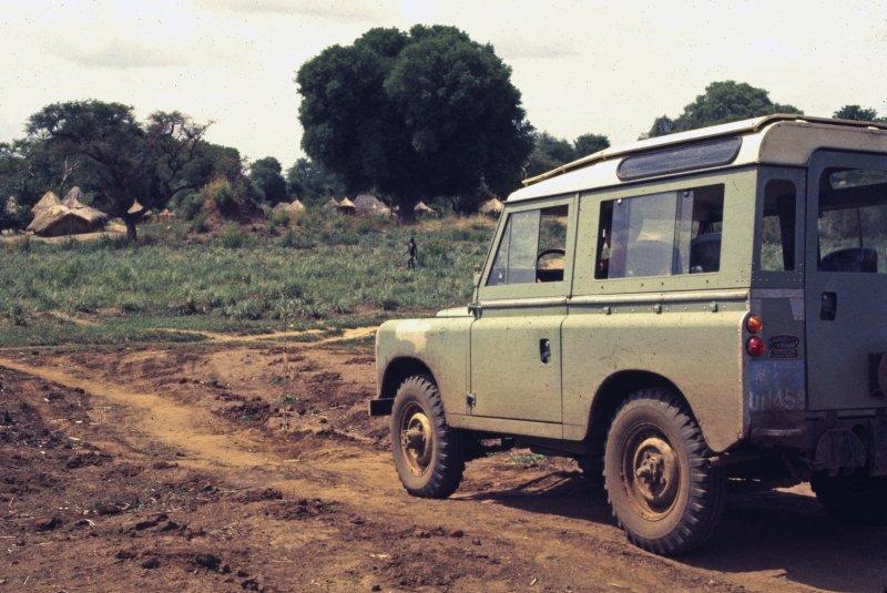 Rover approaching village (photo Steven Schewe).