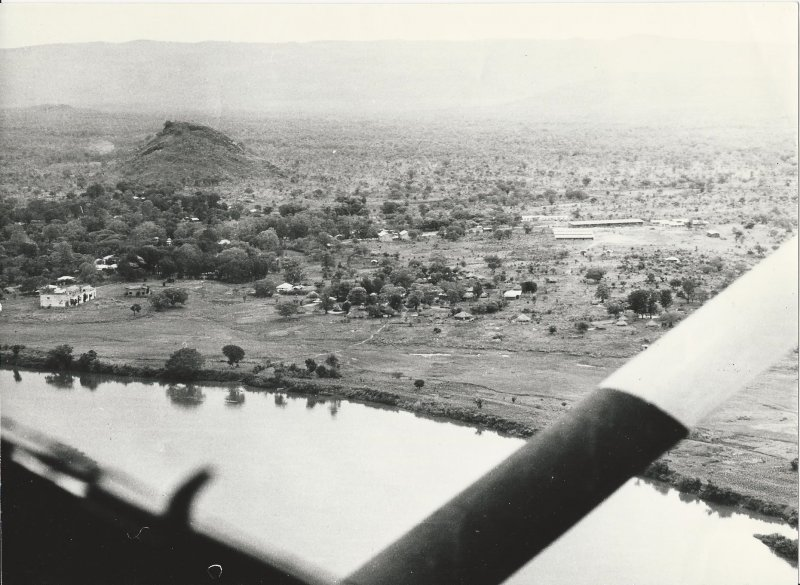 Gambella from the air, pop 1,000 (photo Steven Schewe).